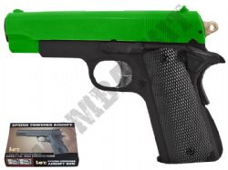 HA102 BB Gun 1911 Compact Replica Spring Airsoft Pistol 2 Tone Colours